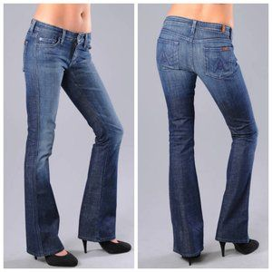 7 FOR ALL MANKIND A Pocket Blue Flare Jeans